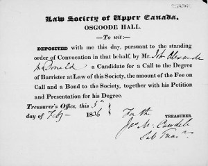 Receipt_for_application_to_the_Law_Society_of_Upper_Canada_issued_to_John_A._Macdonald,_February_5,_1836
